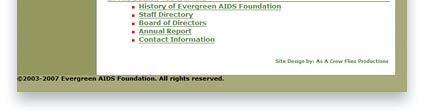 Evergreen AIDS Foundation Design Sample