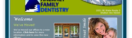 Hackney Family Dentistry Design Sample